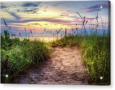 Magical Light In The Dunes Acrylic Print by Debra and Dave Vanderlaan