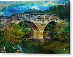 Magical Middle Of Nowhere Bridge Acrylic Print