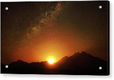 Magical Milkyway Above The African Mountains Acrylic Print
