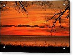Magical Orange Sunset Sky Acrylic Print