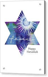 Magical Peaceful Hanukkah- Art By Linda Woods Acrylic Print
