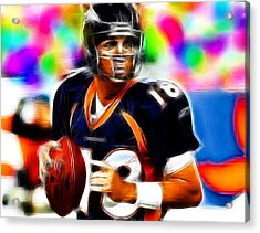 Magical Peyton Manning Borncos Acrylic Print by Paul Van Scott