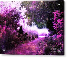 Pink Fantasy Garden Path Acrylic Print
