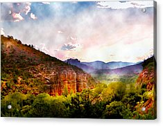 Magical Sedona Acrylic Print by Ellen Heaverlo