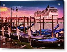 Magical Sunset In Venice Acrylic Print