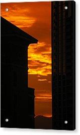Magical Sunset Acrylic Print by Paula Strahan