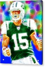 Magical Tim Tebow Acrylic Print by Paul Van Scott