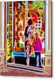 Magical Window - Christmas Window Display 3  Acrylic Print by Steve Ohlsen
