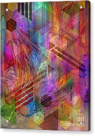 Magnetic Abstraction Acrylic Print by John Beck