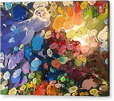 Magnetic Paint Palette Acrylic Print by Tanielle Childers