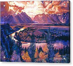 Magnificent Grand Tetons Acrylic Print by David Lloyd Glover