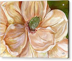 Acrylic Print featuring the painting Magnificent Magnolia -1 by Sheron Petrie