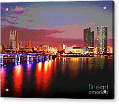 Magnificent Miami Sunrise Acrylic Print