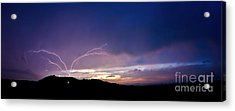 Magnificent Sunset Lightning Acrylic Print