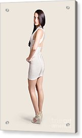 Magnificent Woman In White Dress. Fashion Photo Acrylic Print by Jorgo Photography - Wall Art Gallery
