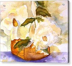 Magnolia Blossoms Acrylic Print by Sandi Stonebraker