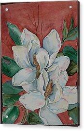 Magnolia Five Acrylic Print by Diane Ziemski