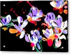 Magnolia Impressions Acrylic Print by Linda  Parker