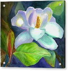Acrylic Print featuring the painting Magnolia by Jeanne Kay Juhos