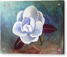 Magnolia Acrylic Print by Loretta Nash