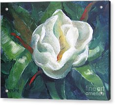 Acrylic Print featuring the painting Magnolia by Marta Styk
