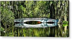 Magnolia Plantation Bridge - Charleston Sc Acrylic Print