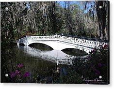 Magnolia Plantation Bridge Acrylic Print by Gordon Mooneyhan