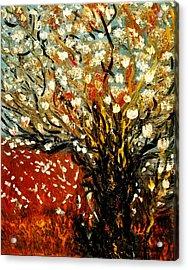 Magnolia Tree Acrylic Print by Evelina Popilian
