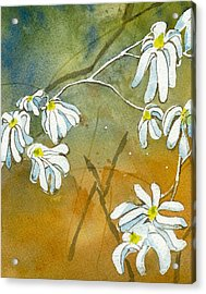 Acrylic Print featuring the painting Magnolias 2 Of 3 by Lynn Babineau