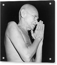 Mahatma Gandhi 1869-1948 In 1946 Acrylic Print by Everett