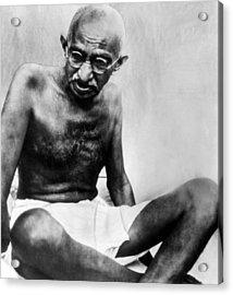 Mahatma Gandhi, 78, Pauses Acrylic Print by Everett