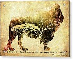 Mahatma Gandhi Motivational Inspirational Independent Quote 2 - By Diana Van Acrylic Print