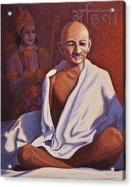 Mahatma Gandhi Acrylic Print by Steve Simon