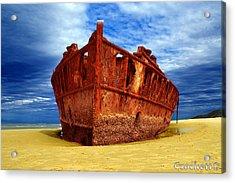 Maheno Shipwreck Fraser Island Queensland Australia Acrylic Print