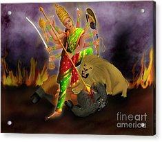 Mahishasurmardini Acrylic Print