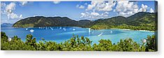 Maho And Francis Bays On St. John, Usvi Acrylic Print by Adam Romanowicz