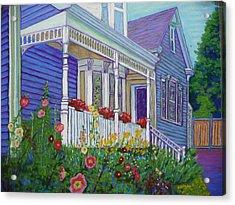 Mahone Bay Hollyhocks Acrylic Print