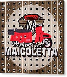 Maicoletta Scooter Advertising Acrylic Print