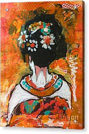 Maiko In Orange  Acrylic Print