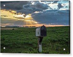 Mail Box In North Dakota  Acrylic Print by John McGraw