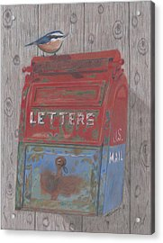 Acrylic Print featuring the painting Mail Call by Arlene Crafton