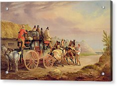 Mail Coaches On The Road - The 'quicksilver'  Acrylic Print by Charles Cooper Henderson