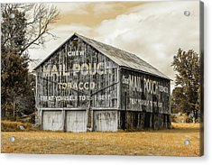 Mail Pouch Barn - Us 30 #3 Acrylic Print