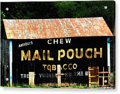 Mail Pouch Acrylic Print by Michael L Kimble