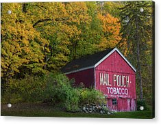 Mail Pouch Tobacco Acrylic Print by Bill Wakeley