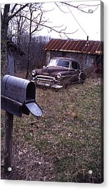 Mailbox Car Acrylic Print by Curtis J Neeley Jr