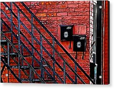 Mailboxes Acrylic Print by Kathleen Stephens