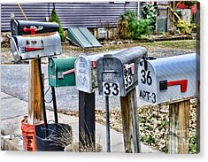 Mailboxes Acrylic Print by Paul Ward