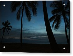 Ma'ili Beach After Sunset Acrylic Print