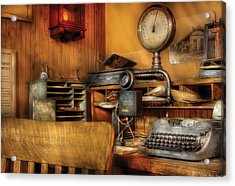 Mailman - In The Office Acrylic Print by Mike Savad